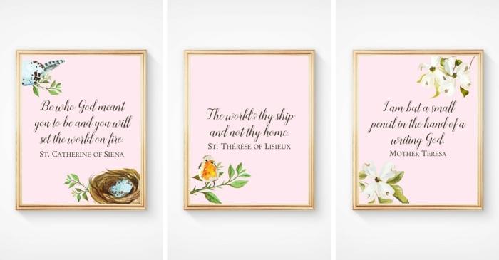 Display of 3 Nursery Prints